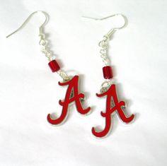 Alabama Fan Logo Earrings Crimson Tide Earrings by CollegePlace