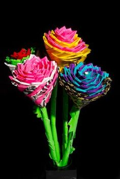 Duct Tape Flowers by ChristineClaret on our How-To Community