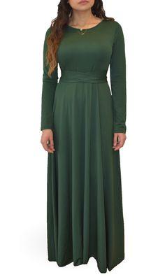 Hunter Green Maxi Modest Maxi Dress, Modest Outfits, Maxi Dresses, Green Maxi, Hunter Green, Everyday Fashion, Kimono, Womens Fashion, Skirts