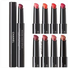 Chanel Rouge Coco Stylo- These are great!! Beautiful colors and feel amazing on!