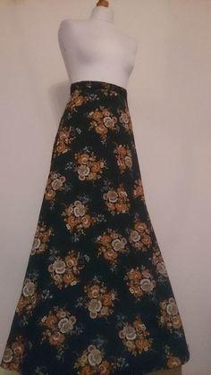 bde4e1ac3f Floral Vintage 1970s Maxi Skirt #VINTED #vintage #retro Hippie Boho, Boho  Fashion