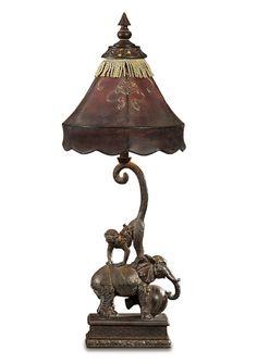 monkey AND elephant lamp
