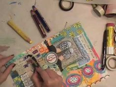 Just plain old fun to watch.    Watch the Process - KICKS Art Journal Page