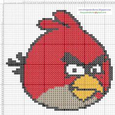 Dibujos Punto de Cruz Gratis: Angry Birds - Cross Stitch Punto de Cruz