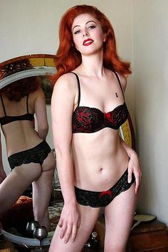 MINERVA: Naughty redhead wearing lingerie classic