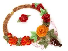Beautiful jewelry with roses   Beads Magic