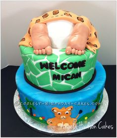 Coolest Baby Butt Cake... This website is the Pinterest of birthday cake ideas