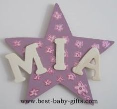 nursery room plaque, baby name plate