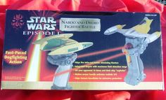 Star Wars Episode 1 Naboo and Droid Fighter Battle CHEAP #tigerelectronics