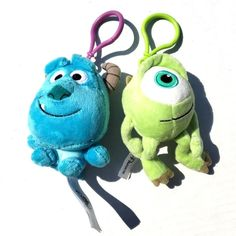 Disney Pixar Monsters Inc Backpack Hanger Clips Mike and Sulley on Mercari