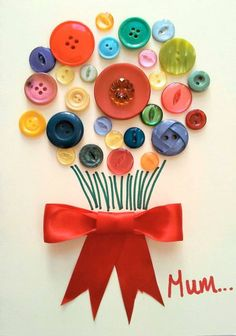 Muttertag Craft Ideen für Kinder im Vorschulalter Best Picture For Button Crafts Ideas thoughts For Your Taste You are looking for something, and it is goi Kids Crafts, Preschool Crafts, Mothers Day Cards, Mother Day Gifts, Spring Crafts, Holiday Crafts, Mother's Day Projects, Mother's Day Activities, Mothering Sunday