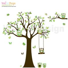 Custom Listing Tree Decal Nursery Wall Stickers by wallartdesign