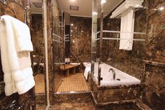 The Owner's Suite Wet Room – Refurbished Silver Cloud Photo Tour   Popular Cruising (Image Copyright © Silversea Cruises)