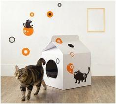 Milk Box de Moissue, la casa de cartón para mascotas   cartonlab   Scoop.it