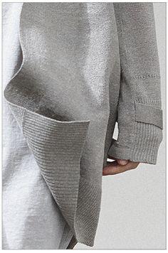 Metallic Silver Linen Dust Coat
