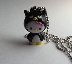 Hello Kitty Dressed As Badtz Maru Kawaii Necklace Character Necklace #Sanrio