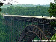 Worlds Longest Span Bridge over New River Gorge, West Virginia