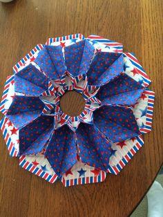 Fold and stitch bloom