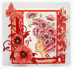 Dream Laine: Girl with Poppies from Aurora Wings using Spectrum Noir blendable pencils