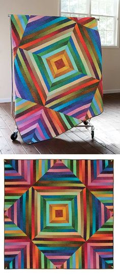 SIMPLY SPARKLY QUILT KIT - love the bright colours in thhis fun quilt.