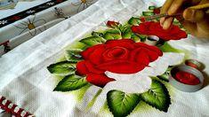 Ensinado a pintar rosas vermelhas com lia ribeiro