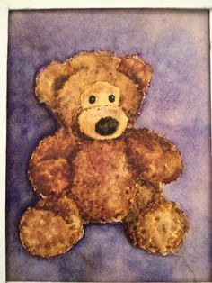 Watercolor Teddy bear