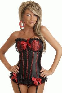 Black Red Scarlet Fever Burlesque Corset Intimates