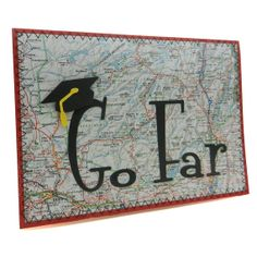 Hey, I found this really awesome Etsy listing at https://www.etsy.com/listing/94144847/graduation-card-go-far-handmade