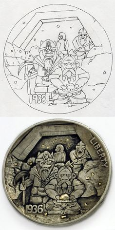 Blog: From Sketches to Carved Coins - Doodlers Anonymous