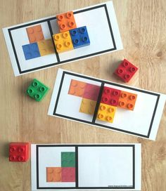 Great way to use Lego for a Montessori matching activity :) Symmetry Activities, Montessori Activities, Kindergarten Math, Toddler Activities, Learning Activities, Preschool Activities, Dinosaur Activities, Family Activities, Cool Lego