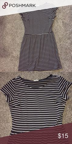 Made by: One Clothing Black and white striped dress, very comfortable one clothing Dresses Mini