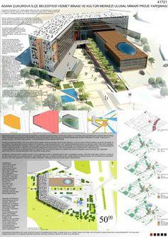 Cephe2 Theatre Architecture, Architecture Courtyard, Architecture Life, Industrial Architecture, 3d Presentation, Dormitory, Library Design, Urban Planning, School Design