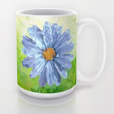 Crystal Flower Coffee Mug  Available in 11 and 15 ounce sizes, our premium ceramic coffee mugs feature wrap-around art and large handles for easy gripping