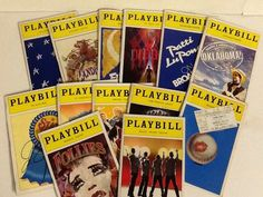 13 Playbills Musical Broadway Shows Ticket Stubs 1983-2013 Colorful Covers