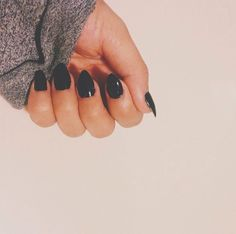 black pointy nails