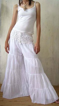 I had a white gauze dress a long time ago and I loved it. I called it my Mexican wedding dress. Wish I still had it.