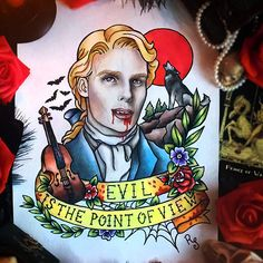 Interview with the Vampire Lestat de Lioncourt Tattoo Flash by RedSelena