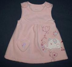 """http://www.littlesister.at/mädchenkleidung/kleider-röcke/56-68/ """"Baby"""" Fleecekleid Gr. 68 (3-6 M0n.) 6,00 €"""