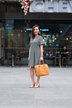 SHENTONISTA: Back In The Game. Winnie, Media. Dress from H&M, Bag from Prada, Shoes form Steve Madden. #shentonista #theuniform #singapore #fashion #streetystyle #style #ootd #sgootd #ootdsg #wiwt #popular #people #male #female #womenswear #menswear #sgstyle #cbd #HM #Prada #SteveMadden