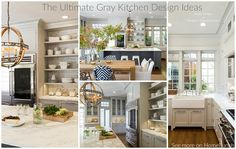 The Ultimate Gray Kitchen Design Ideas. Heydt Designs & Benjamin Dhong Interiors. See more on Home Bunch.