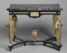 Ferdinand Barbedienne : Neo-Greek table by Emile Hebert and the Barbedienne Foundry, c. Famous Sculptures, The Inventors, Patina Finish, Bronze, Architectural Antiques, True Art, Objet D'art, Ferdinand, Art Object