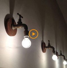 """nice Recycling Ideas for Home. # Lampen """"light up your mind"""" DIY Rustic Lighting, Industrial Lighting, Home Lighting, Lighting Design, Funky Lighting, Edison Lighting, Bar Lighting, Lighting Ideas, Track Lighting"""