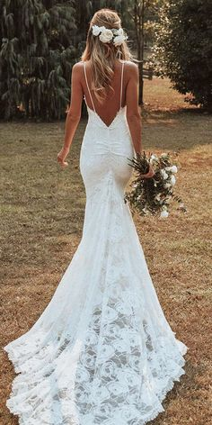 14 Grace Loves Lace Wedding dresses for 2020 ~ KISS THE BRIDE MAGAZINE - - Everything you need to know about Grace Loves Lace wedding dresses. Find out who stocks new and secondhand Grace Loves Lace wedding dresses. Wedding Dress Mermaid Lace, Boho Wedding Dress With Sleeves, Open Back Wedding Dress, Lace Dress With Sleeves, Country Wedding Dresses, Wedding Dress Trends, Modest Wedding Dresses, Mermaid Dresses, Elegant Dresses
