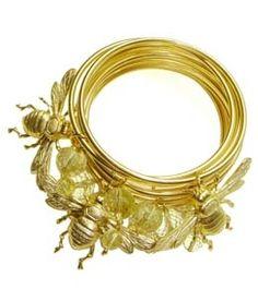 Gold Bee Bracelets