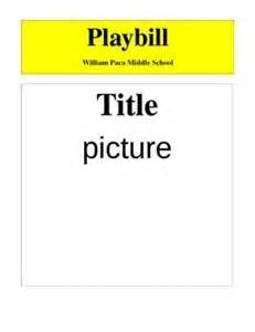 playbill ad template - Google Search | _playbill playing ...