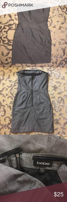 {Bebe} Dress Bebe Strapless Dress  Side slit pockets  Size 6 Good condition (no stains or visible flaws) bebe Dresses