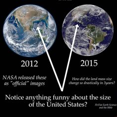 Lets see .... different cameras, different satellites, different distances from the earth, image on the left is obviously cropped, etc