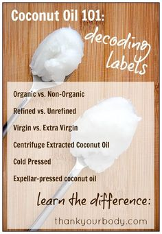 Coconut Oil 101: Decoding labels - Learn how to choose the best coconut oil.