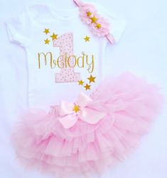 Baby girl first birthday outfit,First birthday girl outfit in Pink Gold,twinkle twinkle little star pink and gold birthday tutu,1st birthday