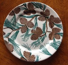 """TEPCO CHINA PINECONE PATTERN 9-5/8"""" DINNER PLATE  